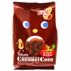 15071  tohato caramel corn 3 cacao variety chocolate flavour snacks