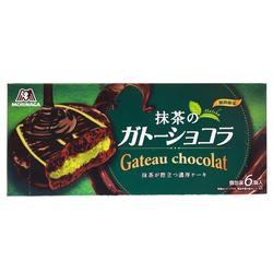 15073  morinaga matcha green tea cream filled chocolate cakes