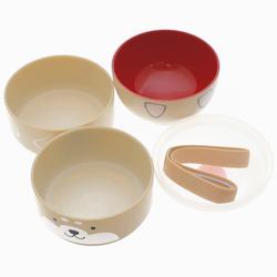 15092  hakoya shiba inu dog kokeshi doll bento lunch box   beige   broken down form