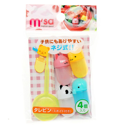 15136  torune mama's assist animal shaped tarebin bento sauce bottles   packaged