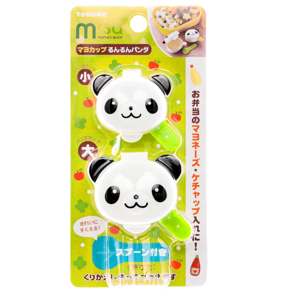 15139  torune mama's assist panda shaped bento mayonnaise and sauce cups   packaged