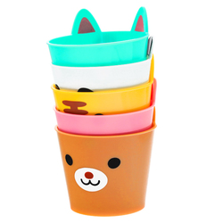 15140  torune mama's assist mini animal party plastic cup set   stacked