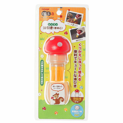 15141  mama's assist mushroom shaped silicone oil brush with holder   packaged