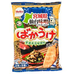 15201  kuriyamabeika bakuke chilli pepper miso flavoured rice crackers