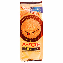 15225  tohato harvest 4 nut variety biscuits