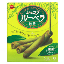 15212  bourbon chocolat lubera matcha cream filled rolled wafer biscuits