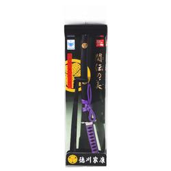15281  nikken cultery samurai sword letter opener  tokugawa ieyasu   box