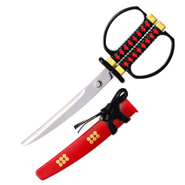 15285  nikken cultery samurai sword style scissors   sanada yukimura model   open