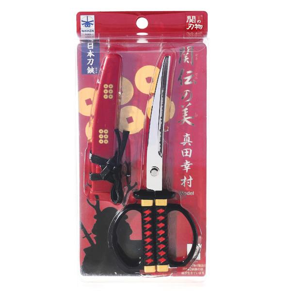 15287  nikken cultery samurai sword style scissors   sanada yukimura model   box