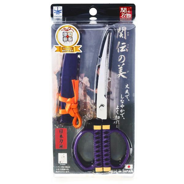 15289  nikken cultery samurai sword style scissors   purple   box