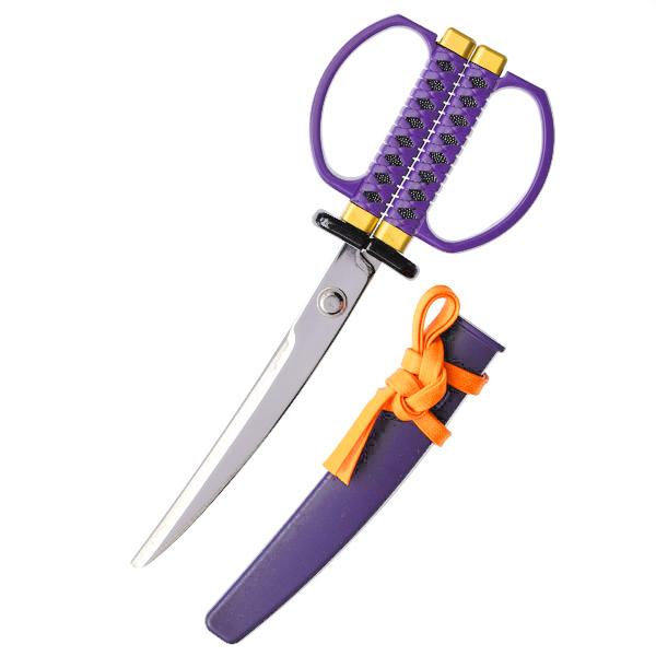 15289  nikken cultery samurai sword style scissors   purple   open