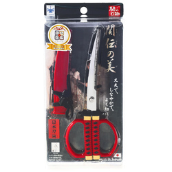 15291  nikken cultery samurai sword style scissors   red   box