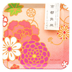 15294  suzuki shofudo kyoto square paper plate   yuzen design   with sleeve