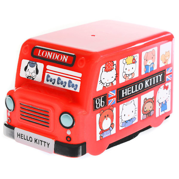 15263  sanrio hello kitty london bus shaped bento lunch box with belt   all together