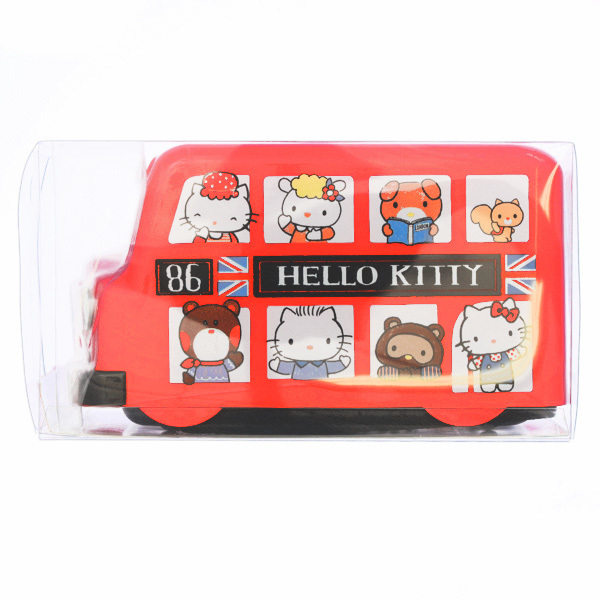 15263  sanrio hello kitty london bus shaped bento lunch box with belt   sealed
