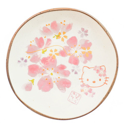 15258  sanrio hello kitty ceramic side dish   sakura cherry blossom pattern  small   open
