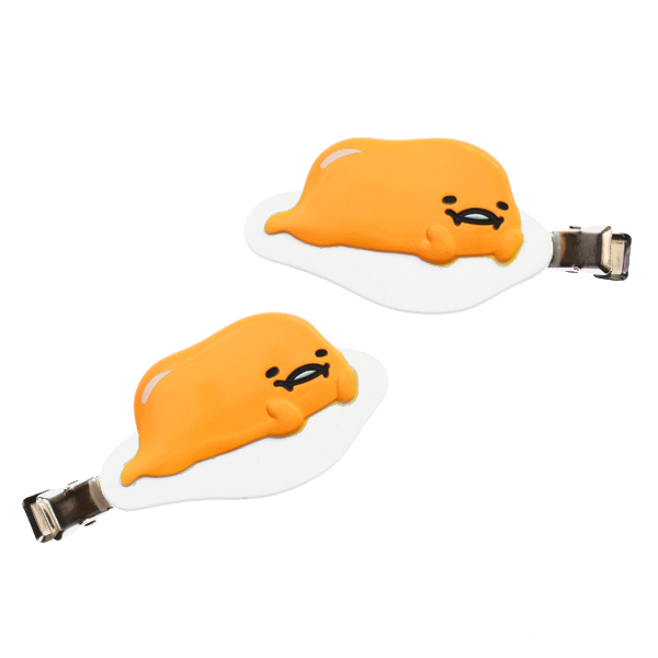15255  sanrio gudetama hair clip for fringe