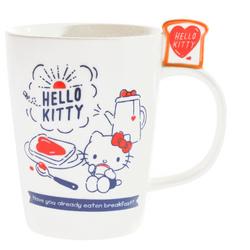 15254  sanrio hello kitty ceramic mug   bread and breakfast pattern