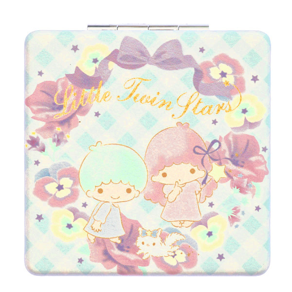 15252  sanrio little twin stars pocket 2 mirror compact   front %282%29