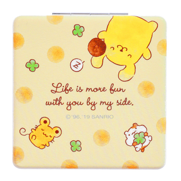 15249  sanrio pompompurin pocket 2 mirror compact   back