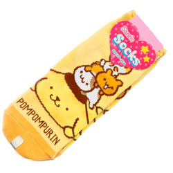 15246  sanrio pompompurin and friends unisex socks for adults