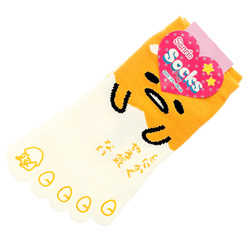15245  sanrio gudetama unisex 5 toe socks for adults