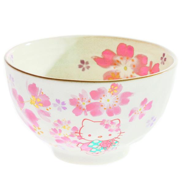 15242  sanrio hello kitty ceramic rice bowl   sakura cherry blossom pattern   front
