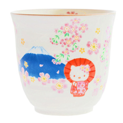 15241  sanrio hello kitty ceramic yunomi tea cup   mount fuji design %282%29