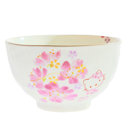 15242  sanrio hello kitty ceramic rice bowl   sakura cherry blossom pattern   back %282%29