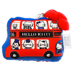 15240  sanrio hello kitty plush pass holder   london pattern   front