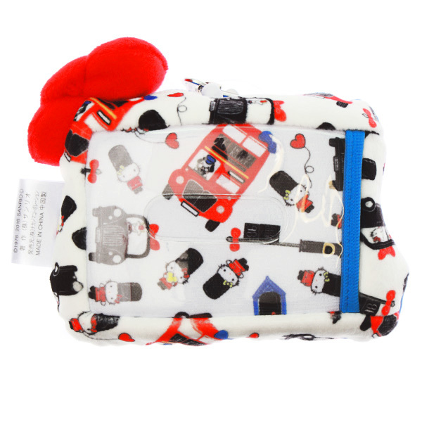 15240  sanrio hello kitty plush pass holder   london pattern   back