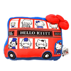 15237  sanrio hello kitty london bus shaped pillow cushion   front