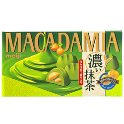 15410  meiji rich matcha macadamia chocolates