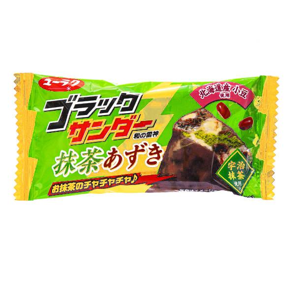 15327  yuraku black thunder matcha and azuki red bean cookie bar
