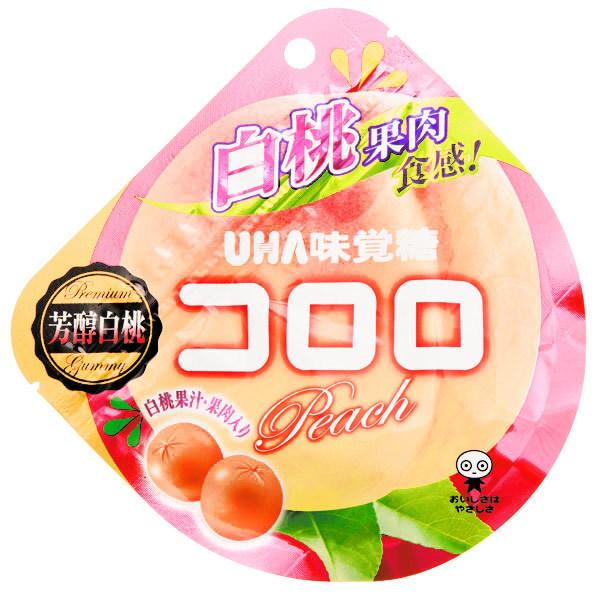 15439  mikakuto kororo white peach flavoured gummy