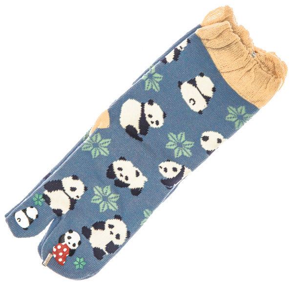 14500  japanese split toe socks   panda pattern   open