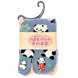 14500  japanese split toe socks   panda pattern   folded