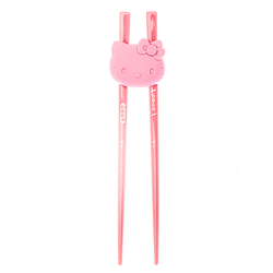 15504  sanrio hello kitty training chopsticks with holder for kids   open