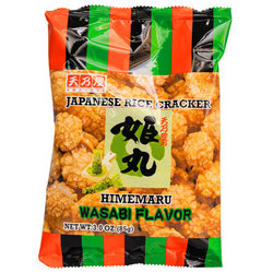15534  amanoya himemaru wasabi flavoured fried rice crackers