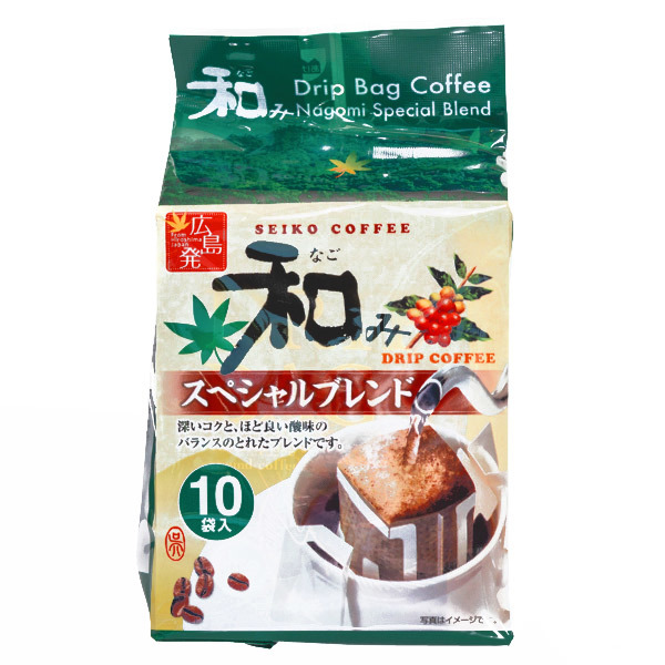 15535  seiko coffee nagomi special blend drip filter bag coffee
