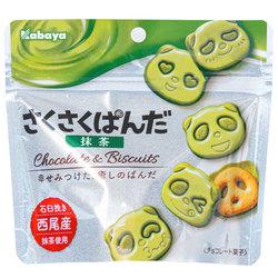 15550  kabaya sakusaku panda matcha chocolate biscuits
