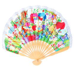 15567  sanrio hello kitty traditional wooden fan   kayo horaguchi collaboration