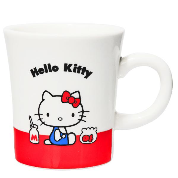 15571  sanrio hello kitty kanesho ceramic mug  white  sitting kitty   front