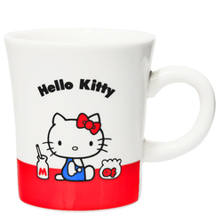 15571  sanrio hello kitty kanesho ceramic mug  white  sitting kitty   front