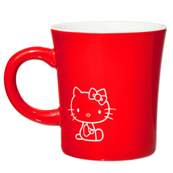 15572  sanrio hello kitty kanesho ceramic mug  red  white text