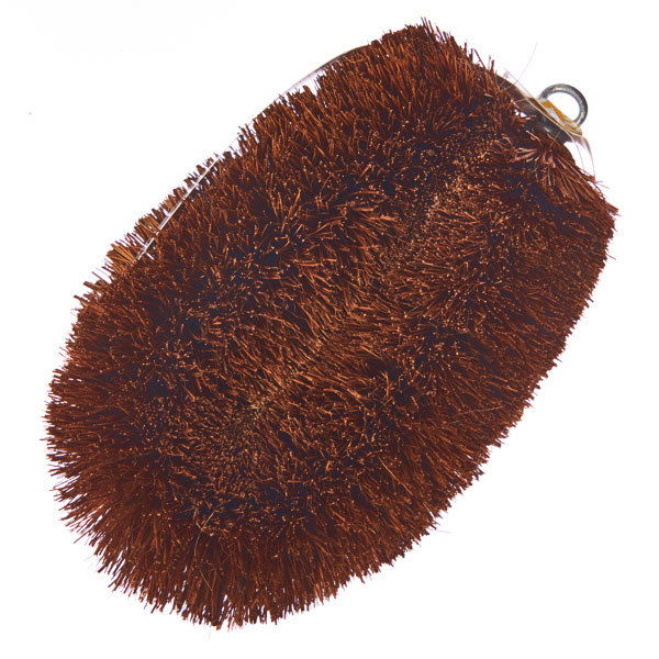 15608  amur lucky hedgehog tawashi scrubbing brush   large   above