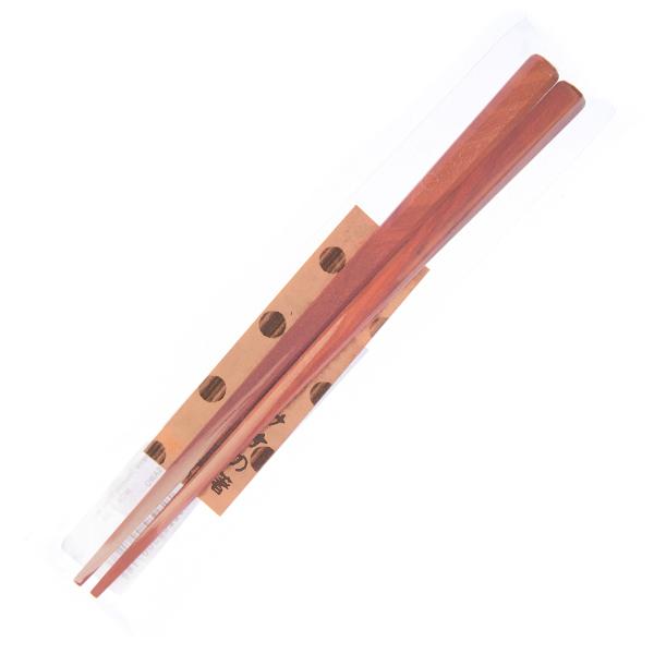 15610  tougei octagonal sawo tree wooden chopsticks   short  natural coloured   wrapped