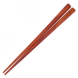 15610  tougei octagonal sawo tree wooden chopsticks   short  natural coloured