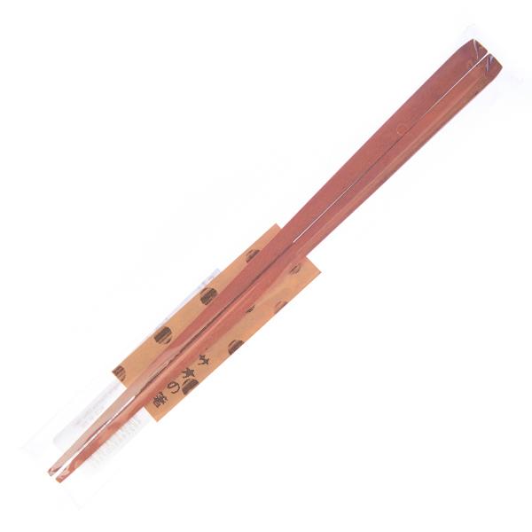 15611  tougei pentagonal sawo tree wooden chopsticks   natural coloured   wrapped