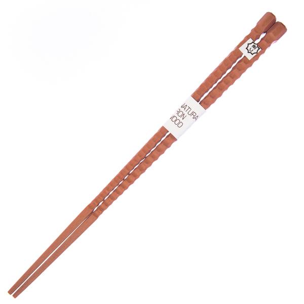 15612  tougei ironwood wooden chopsticks   ridged  natural coloured